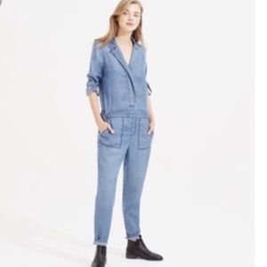 188d2d702b60 Women s Long Sleeve Denim Jumpsuit on Poshmark